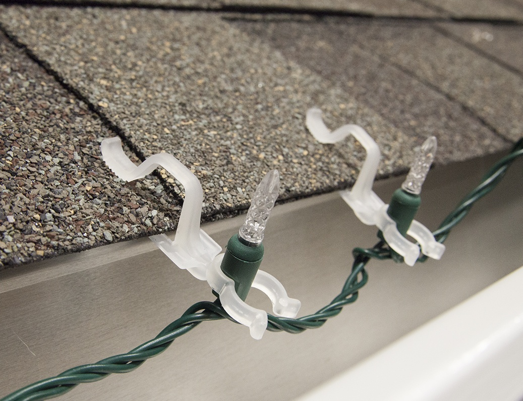 Christmas Light Clips Guide Wiring A Yard Led All In One Are Designed To Hang Mini Lights On Shingles