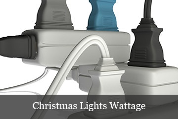 wattage and amp calculations for determining how much power Christmas lights use