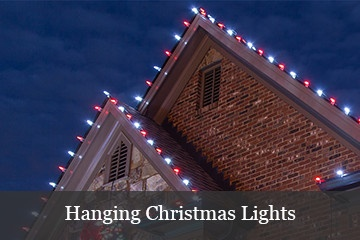 ideas for hanging christmas lights