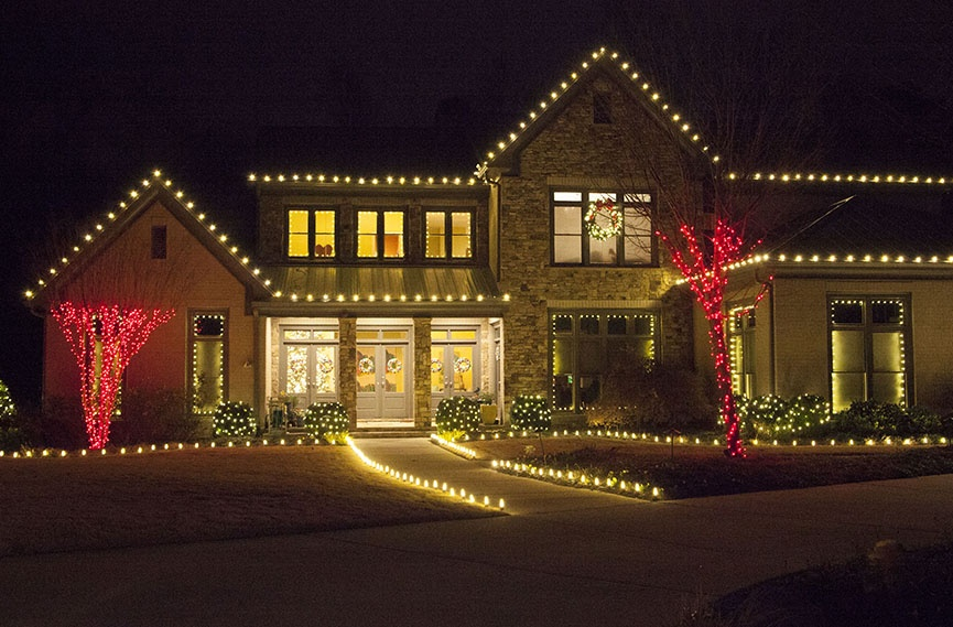 Outdoor christmas lights ideas for the roof white led roof lights aloadofball Choice Image
