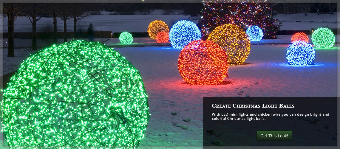 Christmas Yard Decorating With Light Balls