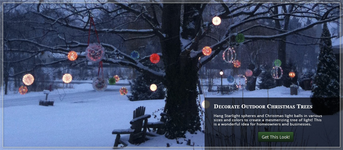 outdoor christmas yard decorating ideas - Outdoor Christmas Balls