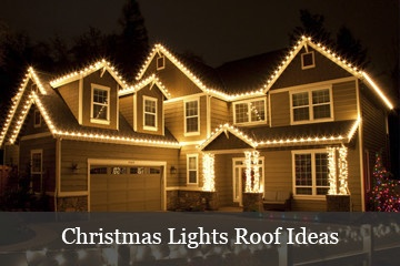 christmas lights roof ideas