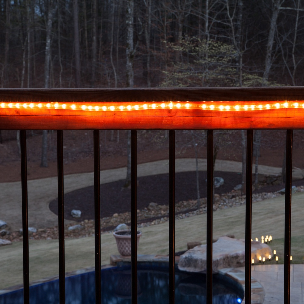 Deck Lighting with Rope Light