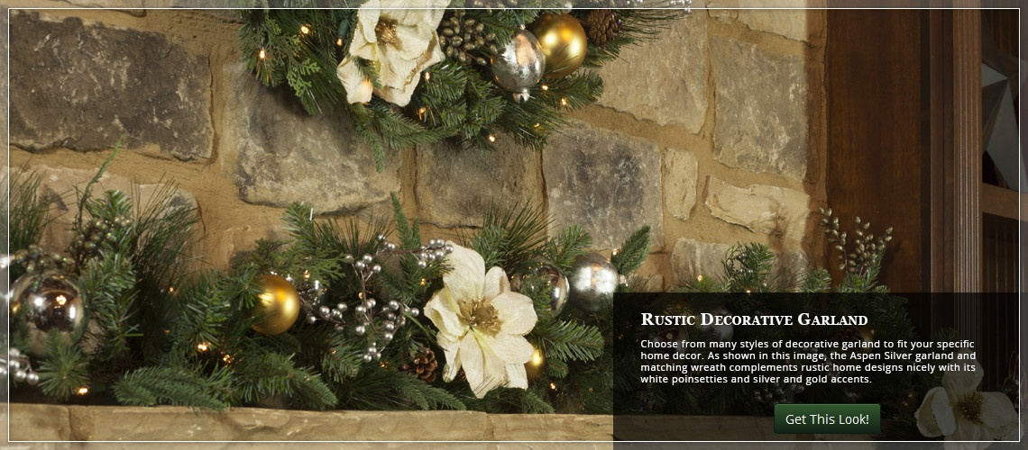 match Christmas greenery on the mantel to existing home decorations