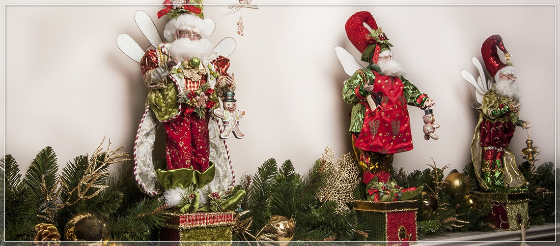 Decorate the mantel and hold Christmas stocking in place with stocking holders.