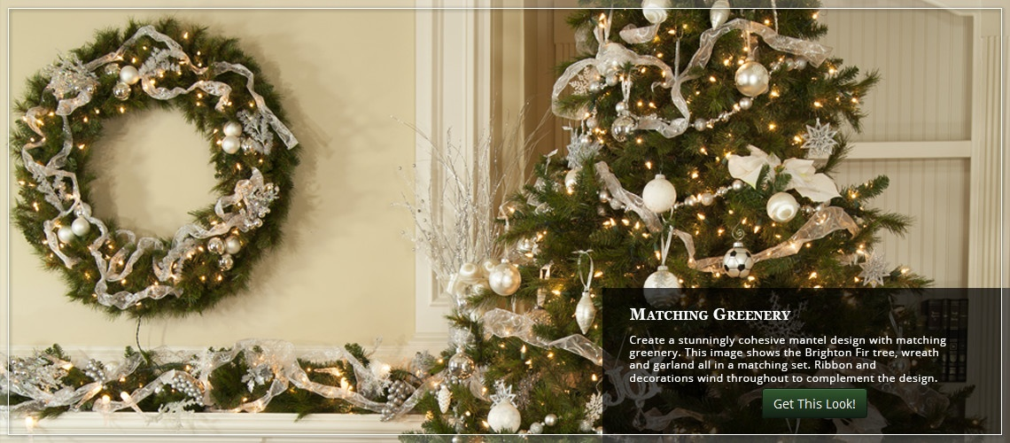 decorate the Christmas mantel with matching greenery