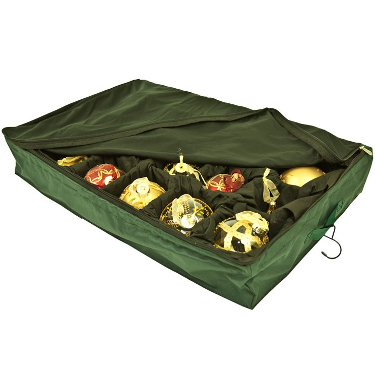 Padded storage bags keep Christmas ornaments protected.