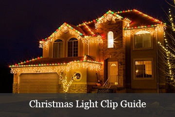 hanging christmas lights clip guide
