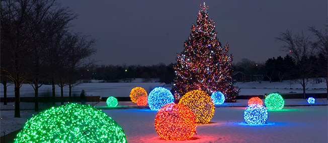 outdoor christmas decorating ideas - Lighted Christmas Tree Lawn Decoration