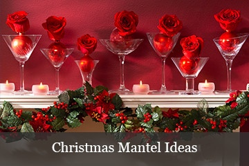Christmas mantel decorating ideas and inspiration