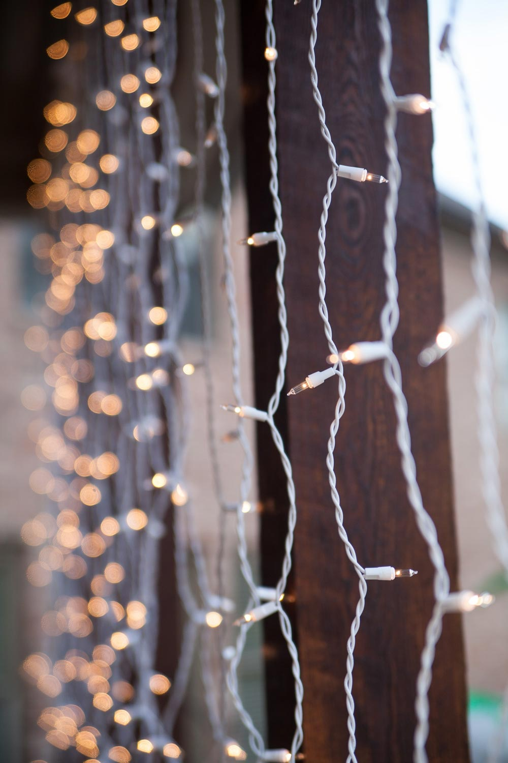White Wire Wedding Lights