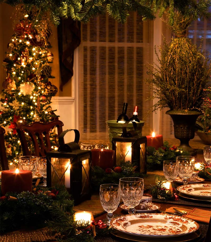 dining room christmas decorating ideas