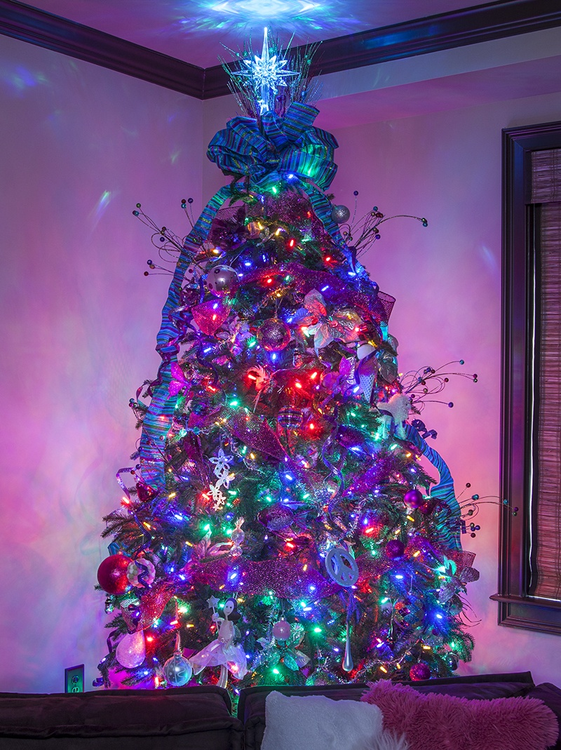 kids christmas trees - Decorating With Colored Christmas Lights