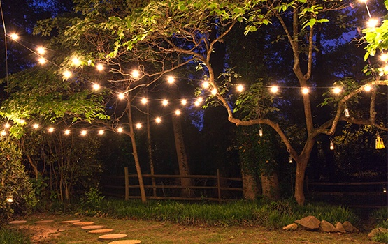 Attrayant Backyard Patio And Party Lights