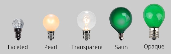 Globe Light Bulb Finish Options