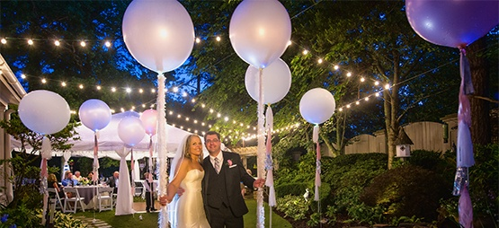 Commercial Patio Lights Used To Decorate an Outdoor Event