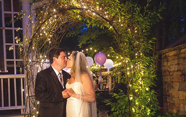 Wedding Arbor With Mini Lights