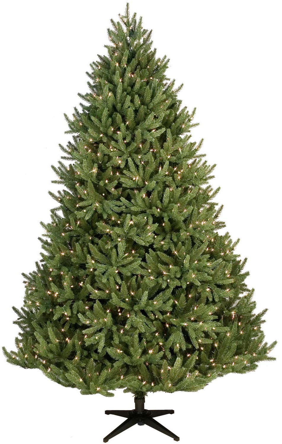 noble fir prelit christmas tree with incandescent lights - Pre Lit Christmas Trees