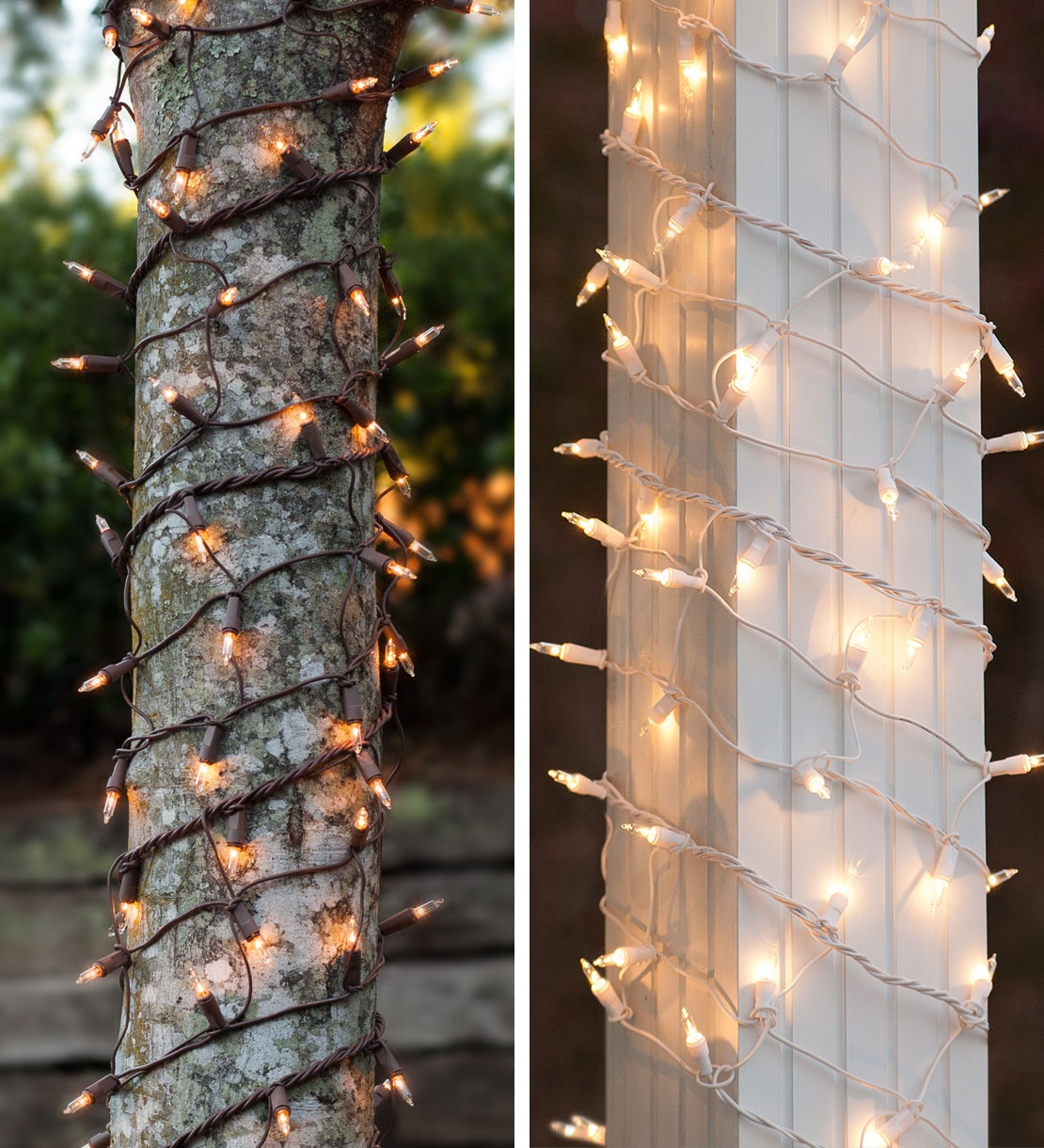 Tree Trunk Wrap And Column With Incandescent Lights