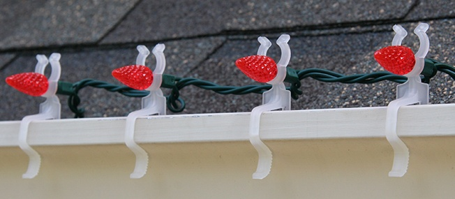 Christmas Light Gutter Clips