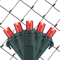 red led net lights for bushes