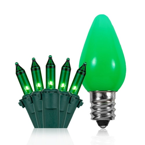 Green Halloween Lights