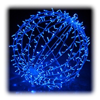 Giant Blue LED Lighted Sphere