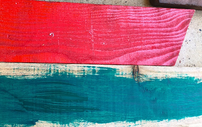 DIY Christmas Trees Step Four - Paint Your Pallets