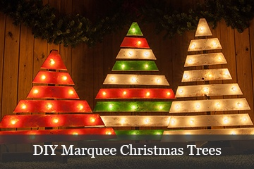 DIY Marquee Christmas Trees