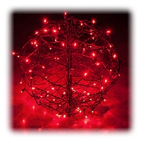 Red LED Christmas Light Ball