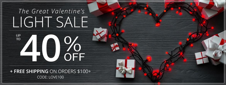 The Great Valentine's Light Sale!