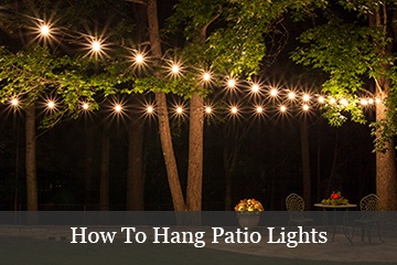 Outdoor and patio lighting ideas for How to hang string lights on trees
