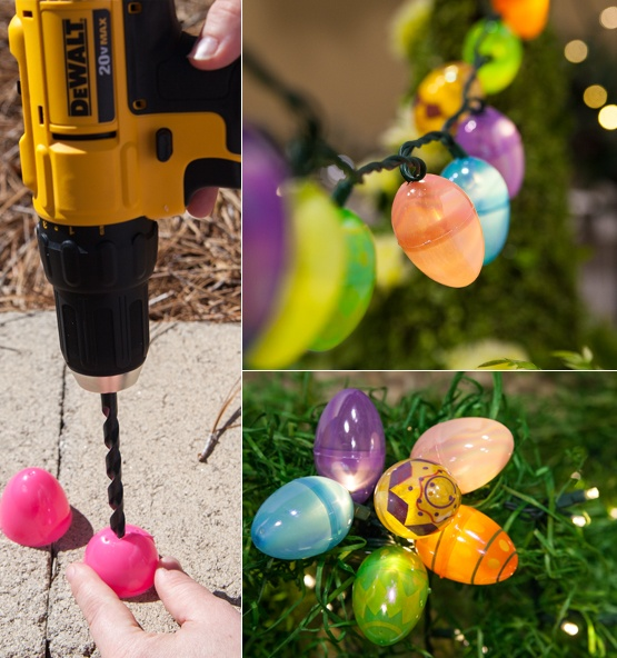 Easter Lights DIY Using String LIghts