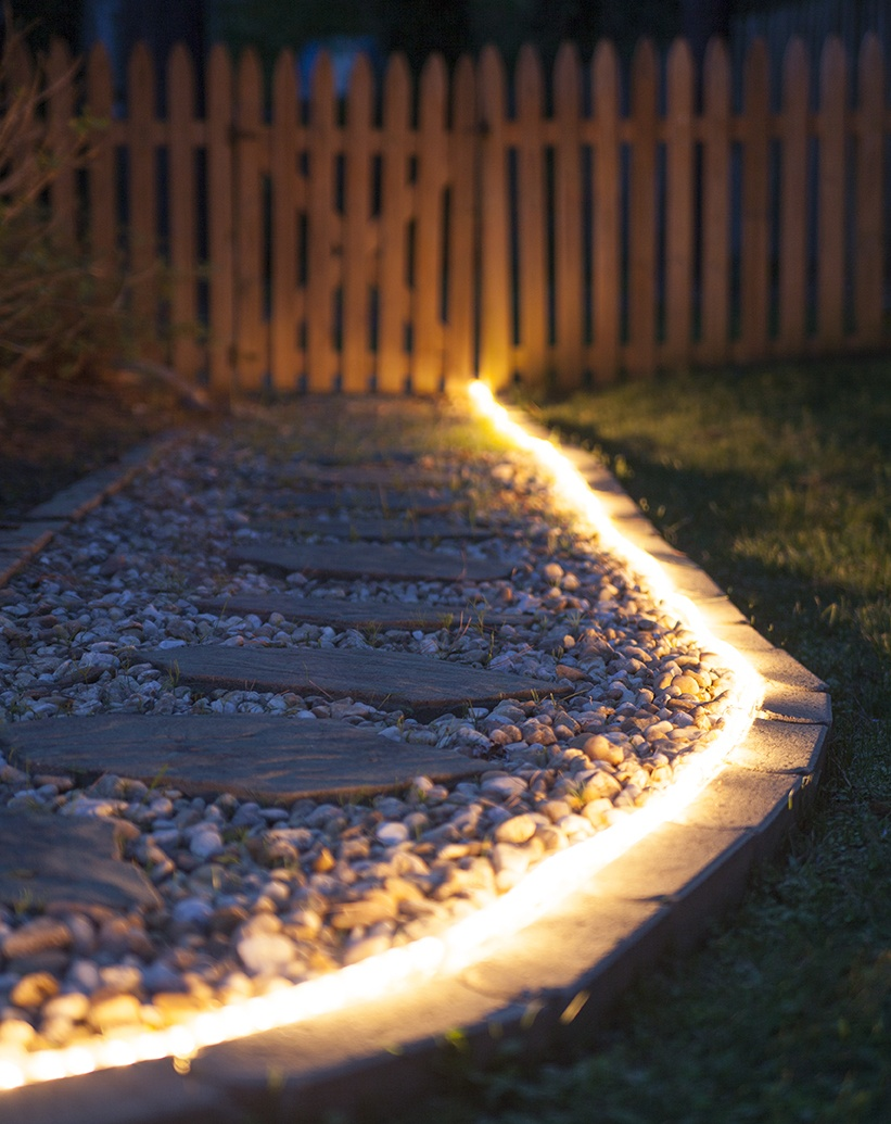 Illuminate a Walkway with Rope Light!
