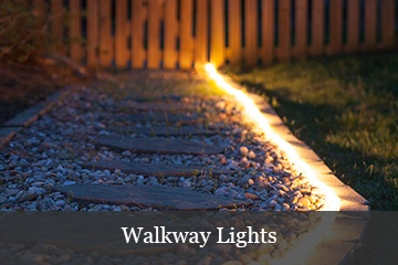 Walkway Lighting with Rope Light