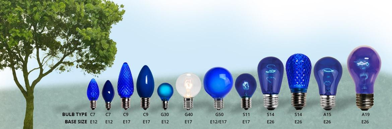 Patio light bulbs and styles