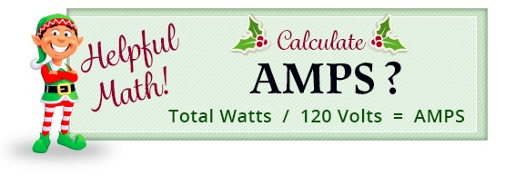 calculate total amps for Christmas lights