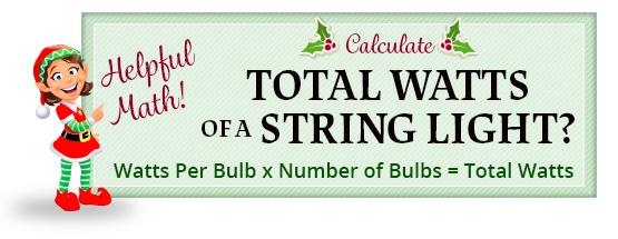 string light wattage calculation