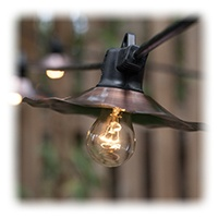 A15 Patio String Lights with Copper Shades
