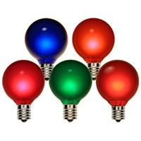G50 Multicolor Satin Patio Bulbs