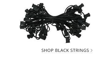 Black Wire Patio Light Strings