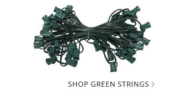Green Wire Patio Light Strings