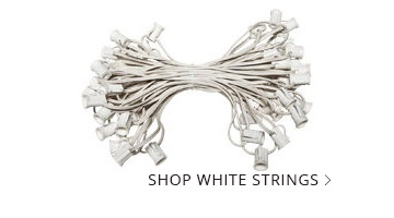 White Wire Patio String Lights
