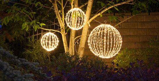 hanging light balls - Christmas Light Balls For Trees