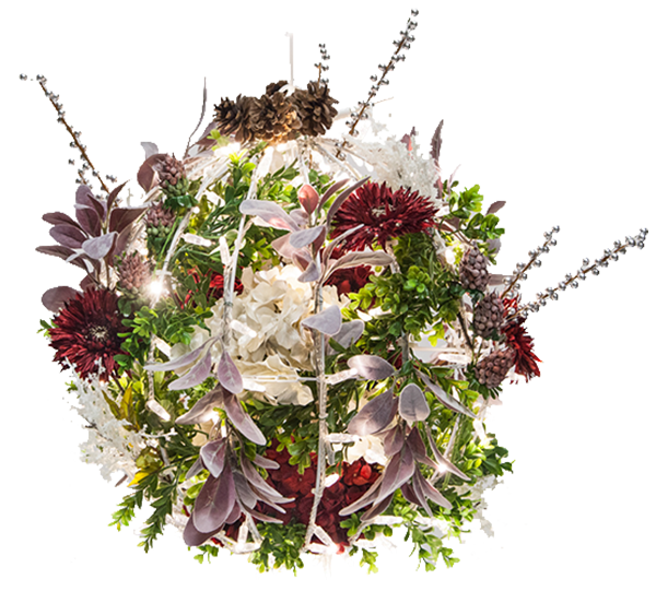 Diy Flower Christmas Light Balls