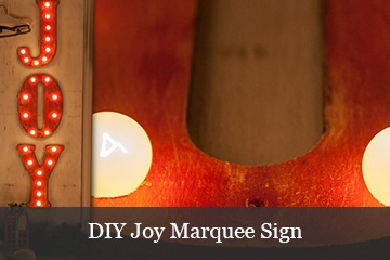 DIY Christmas Joy Marquee Lights