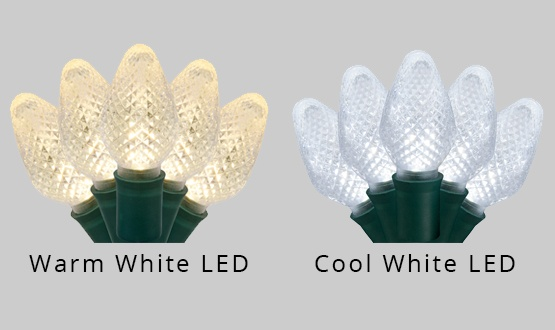 warm and cool white c7 led christmas lights