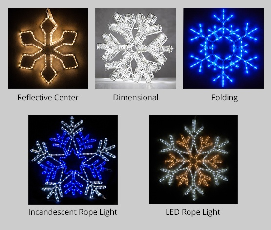 snowflake light colors types