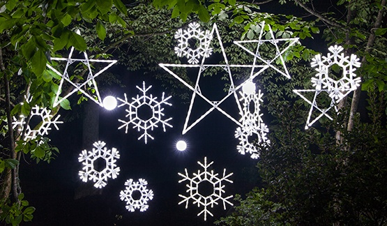 Decorating Ideas with Snowflake Lights - Christmas Snowflakes & Stars